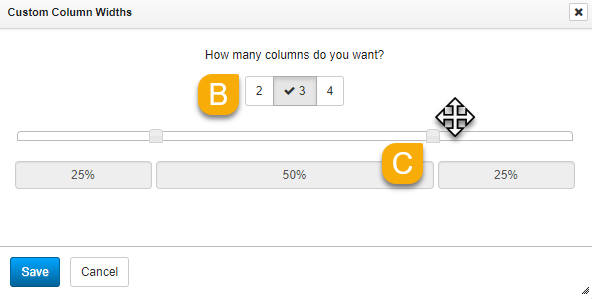 Setting custom column widths