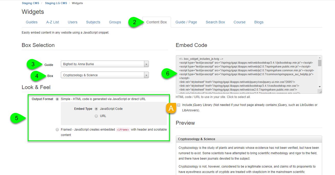 Creating a content box widget