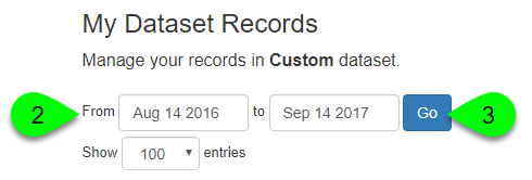 Example of generating a list of records
