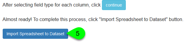 Example of importing fields