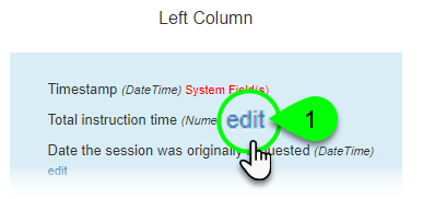 Clicking to edit a field