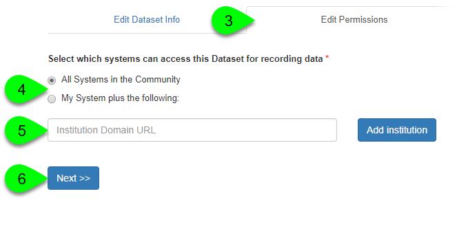 Editing sharing permissions