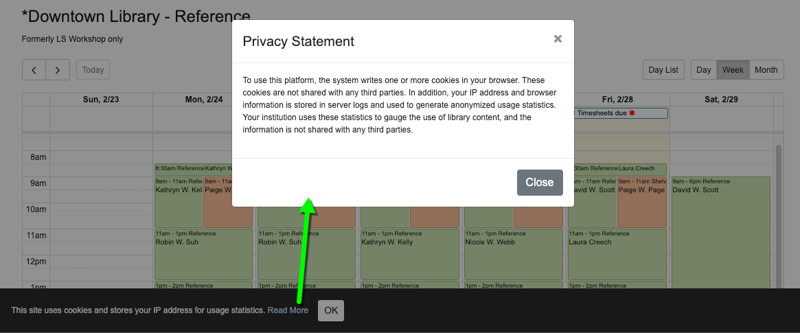 privacy statement example