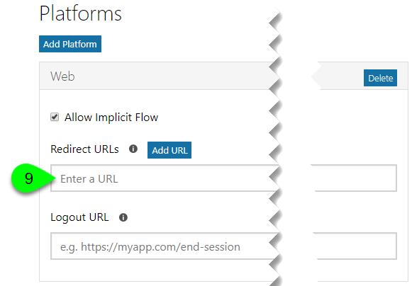 The Redirect URLs field