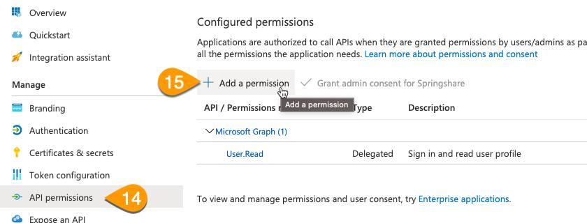 The Add a Permission button