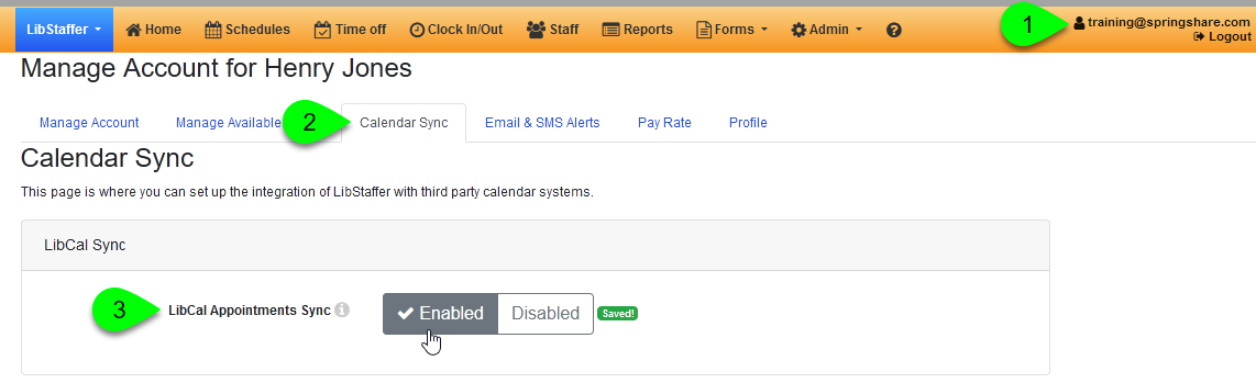 Enabling the LibCal Appointments sync for your account