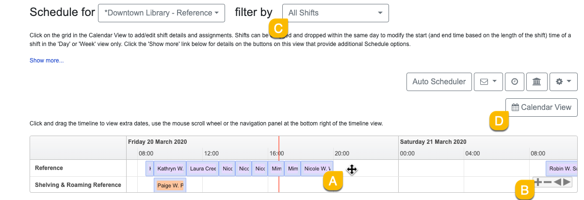 using the shift timeline view part 2