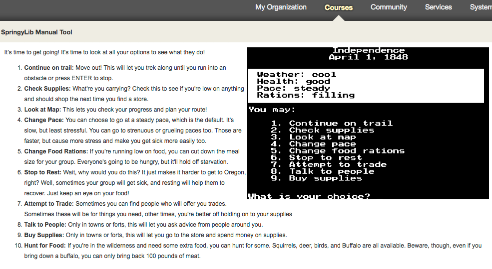 See what the display of a content box with no header/border looks like in Blackboard.