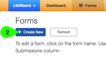 The Create New button