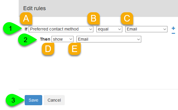 Configuring a field rule
