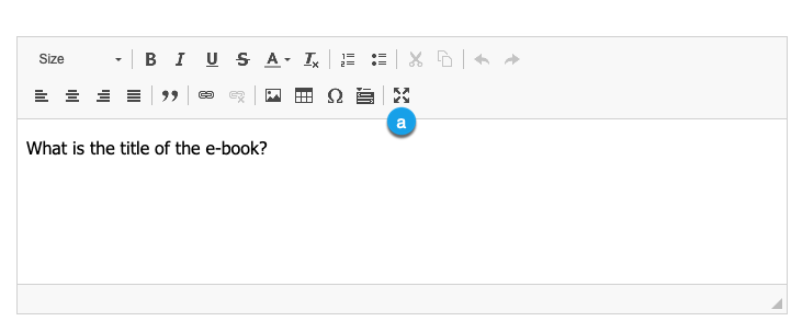 The rich text editor's Maximize button