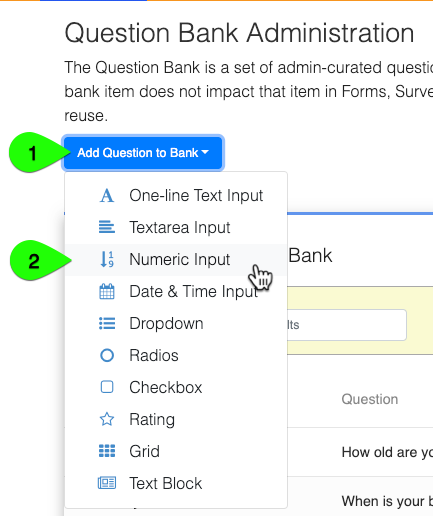 Adding questions to the Question Bank