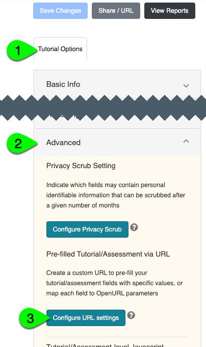 The Configure URL Settings button