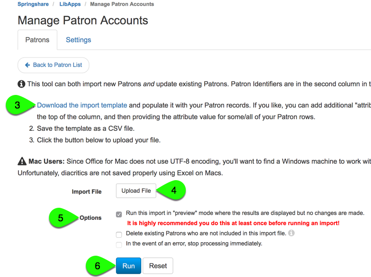 import patron accounts, step 2