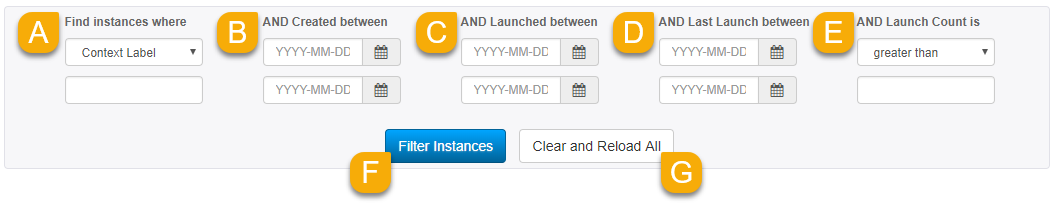 Instance filters