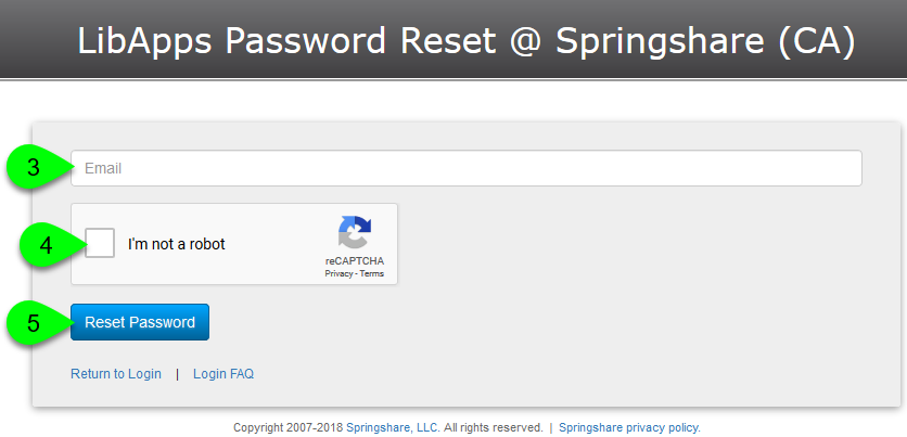 Request a password reset email
