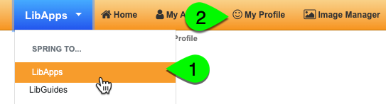 Navigating to the My Profile page