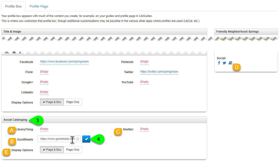 Adding a social cataloging link