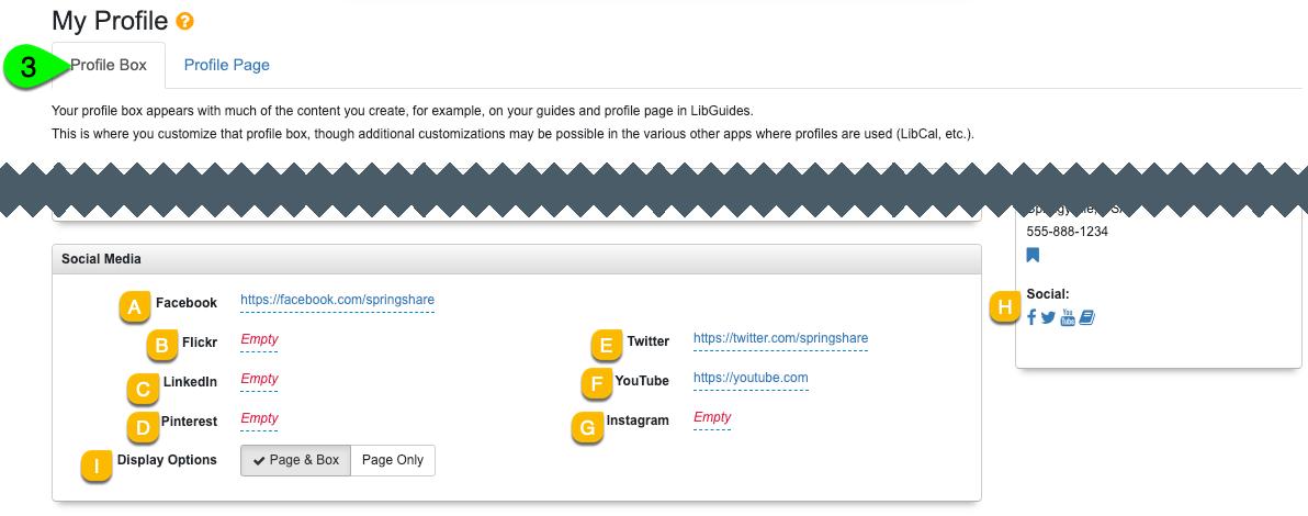 Adding a social media link