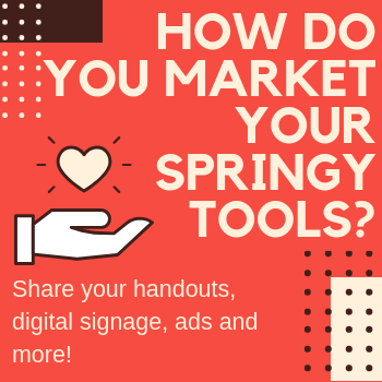 How do you market Springy products? Submit your designs!