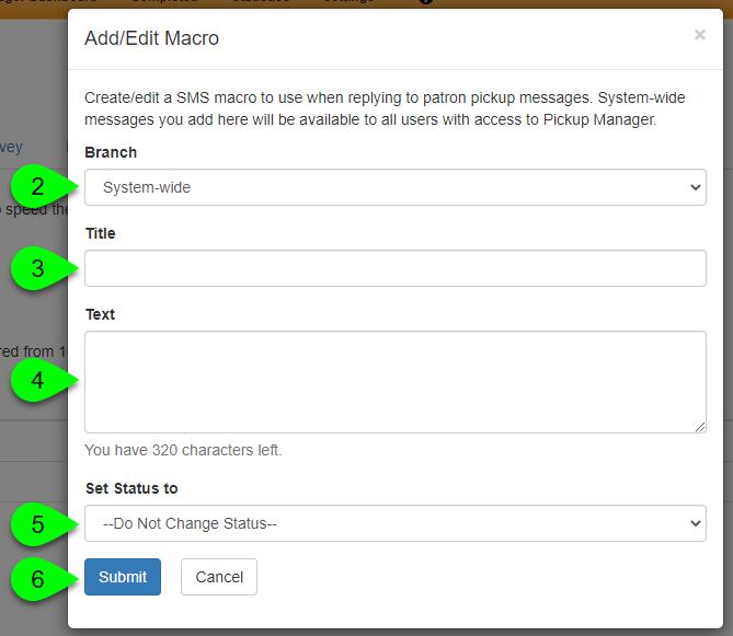the Add/Edit Macro modal window