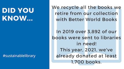 library recycles 3,892 books in 2019