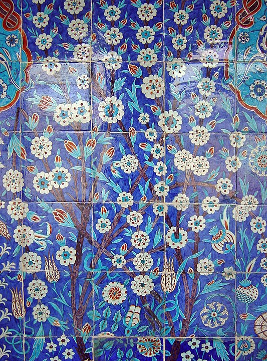 tiles in a mosque