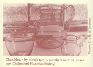 glass blown by Hirsch family
