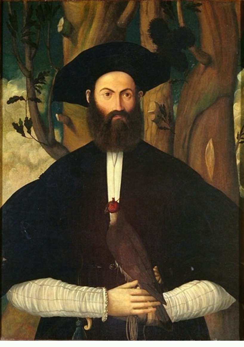 Renaissance man with falcon