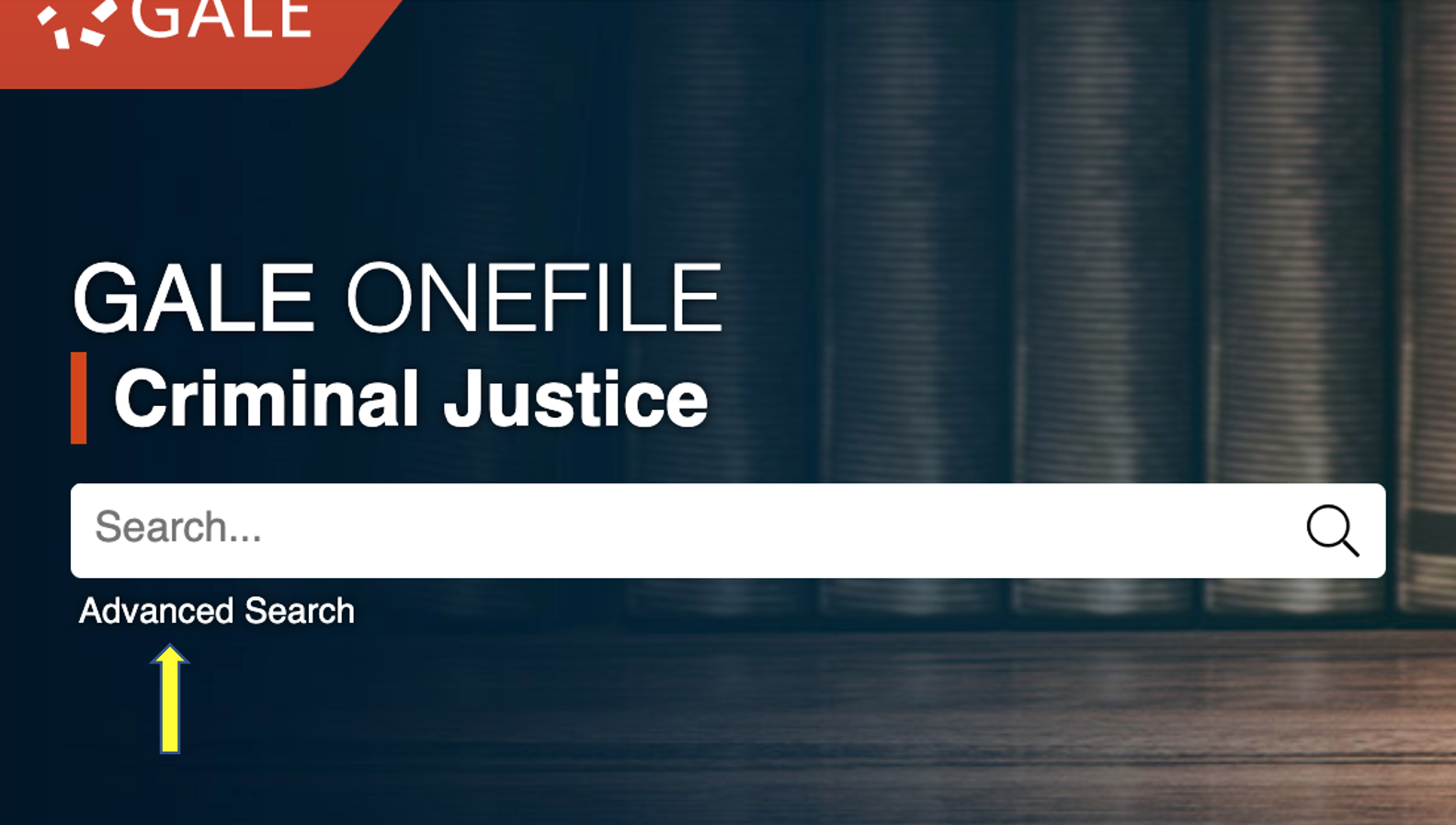 criminal justice collection database basic search box