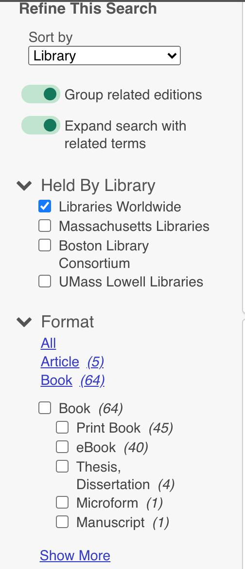 library filter screen