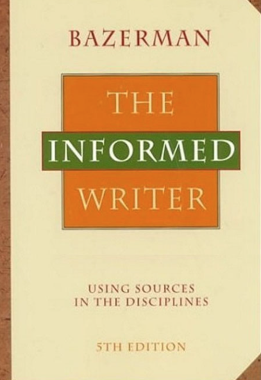book cover the informed writer by charles bazerman