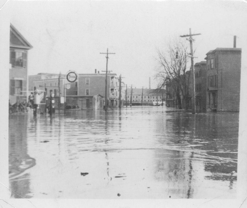 flooded city street