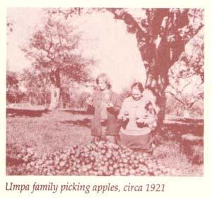 Umpa family apple picking