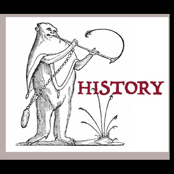 history cartoon figure with horn