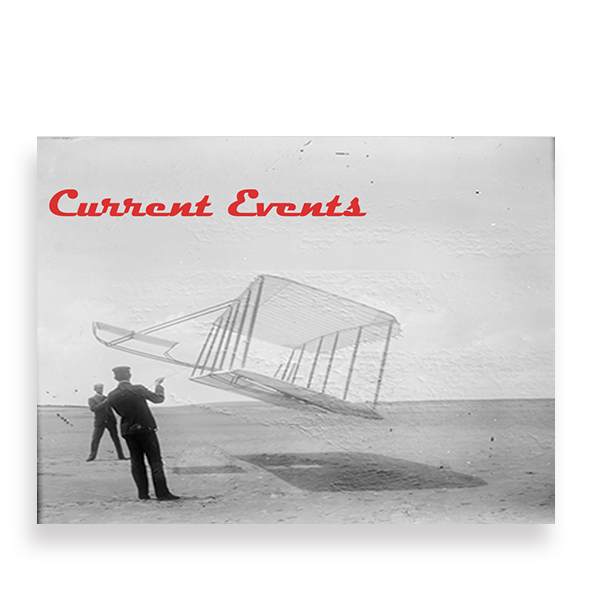 wright brothers with a large kite
