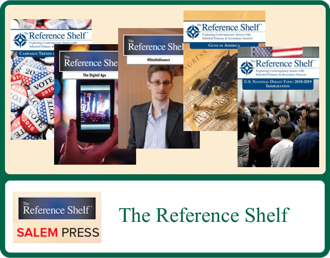 Covers of various issues of The Reference Shelf periodical