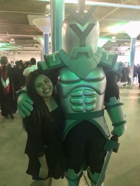 Naw Assumpta with Ivy Tech Titans mascot