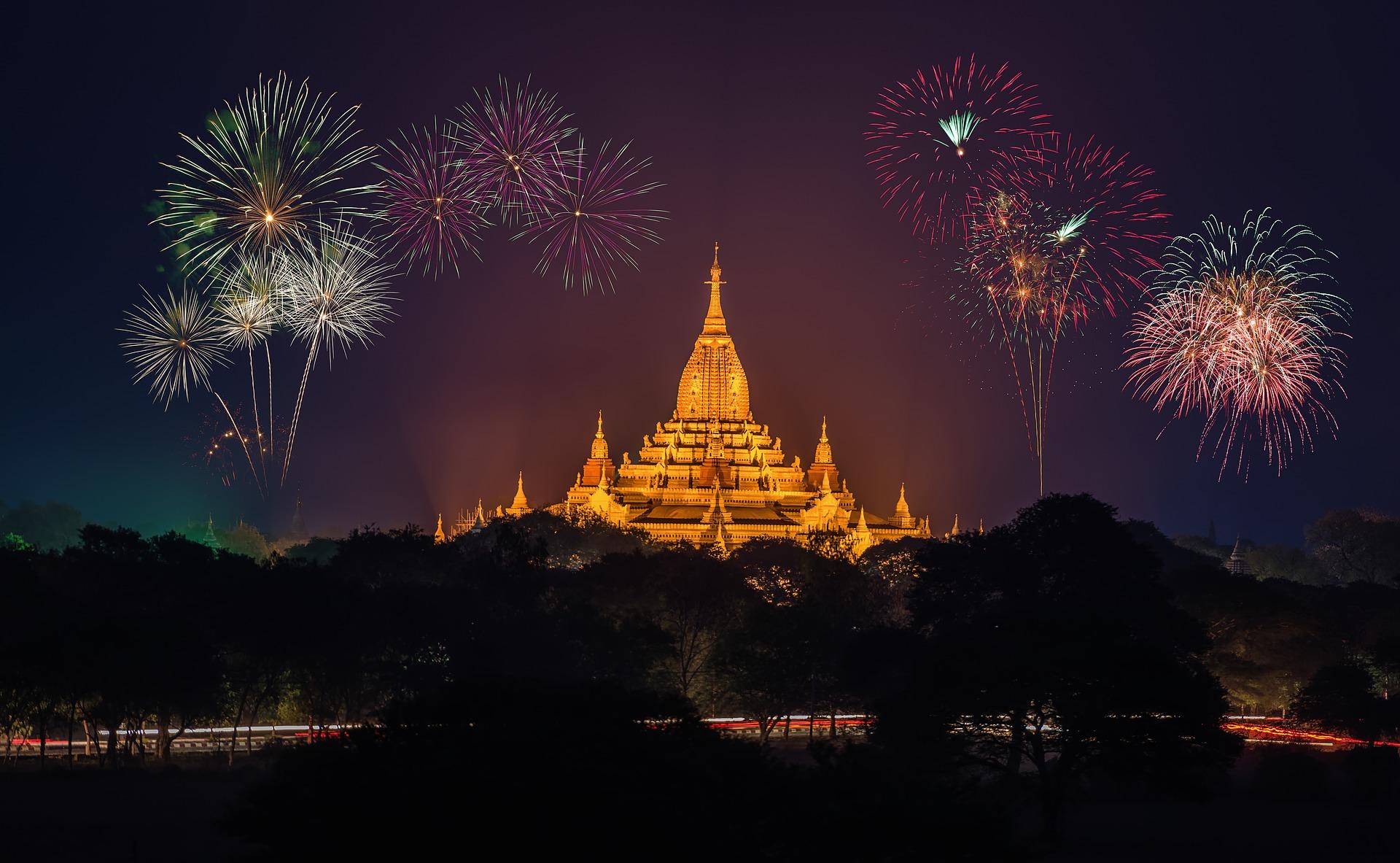Fireworks over Burma