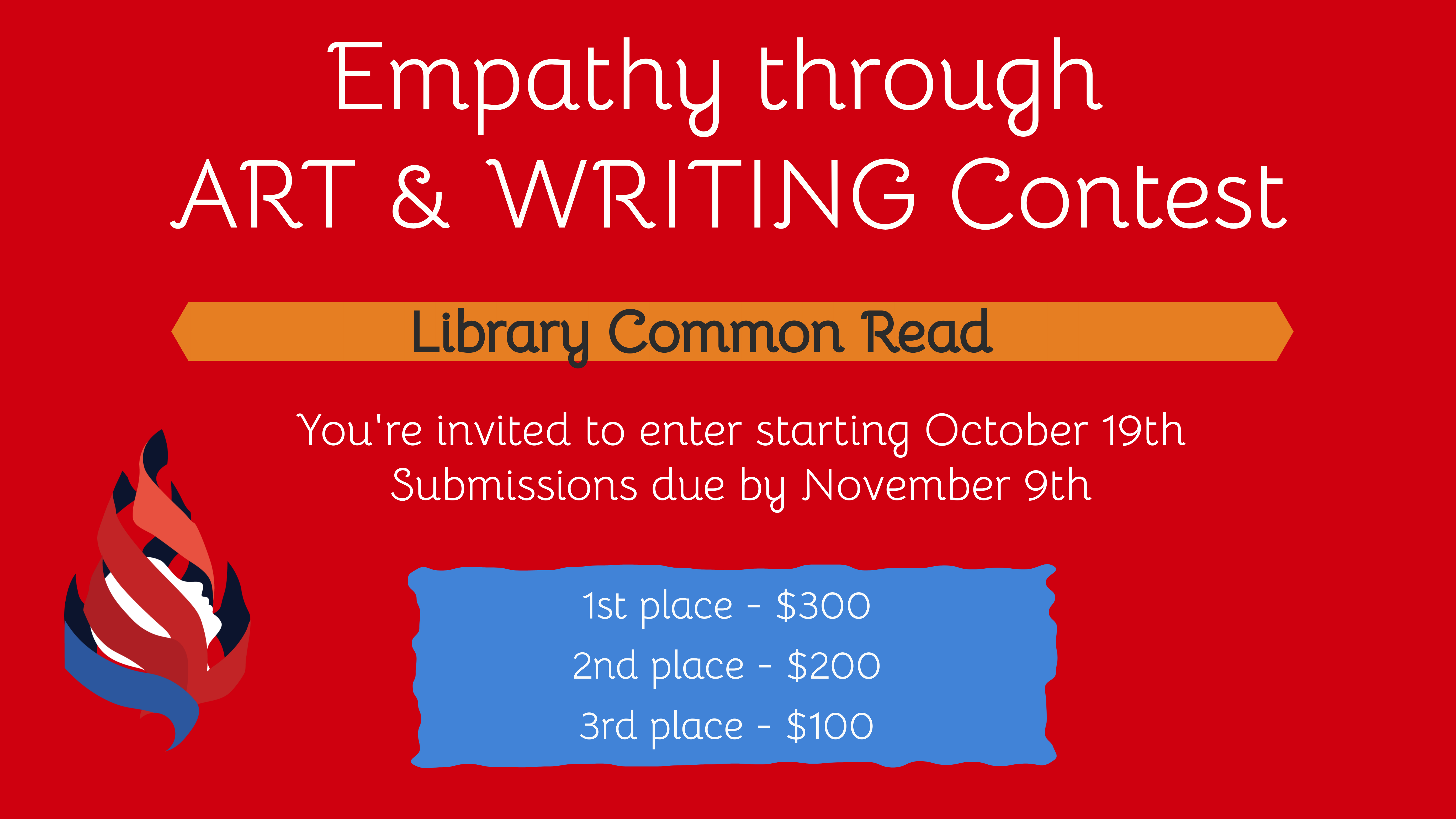 Graphic for Empathy through art and writing contest
