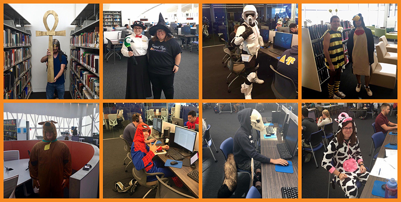 Halloween Costumes at Hunt Library