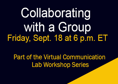 Webinar: Collaborating with a Group