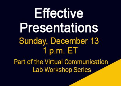 Workshop: Effective Presentations