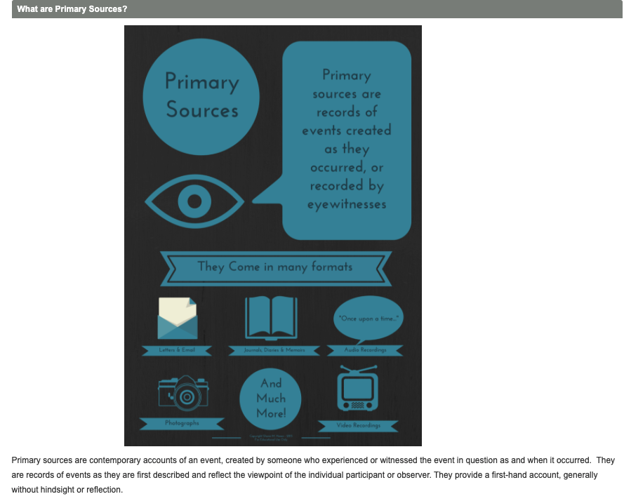 Primary vs. Secondary Sources research guide