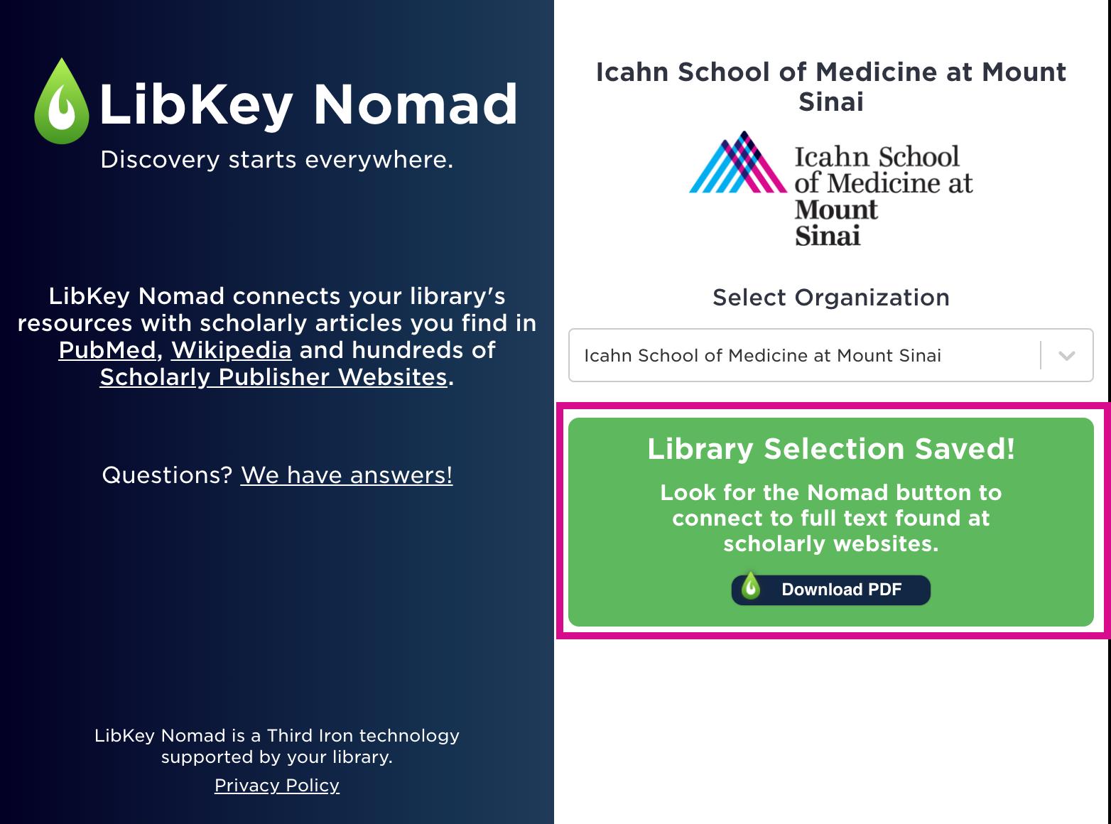 LibKey Nomad Step 2 Image