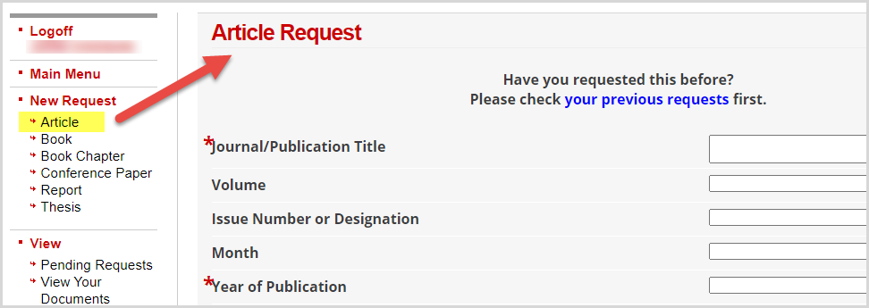 DocumentExpress article request