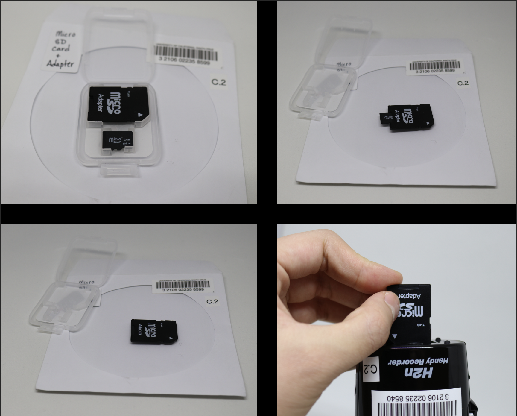 Inserting the MicroSD into the H2n Recorder