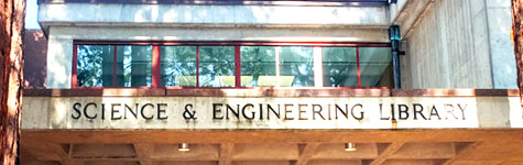 Science and Engineering Library Exterior Sign