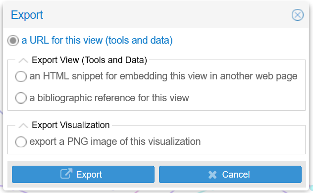 Exporting a specific tool in Voyant-Tools