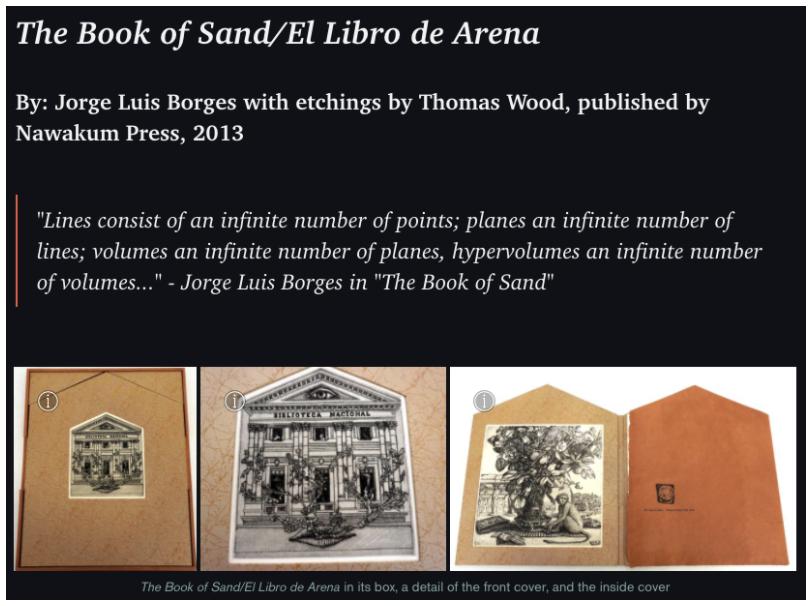 Book of Sand exhibit